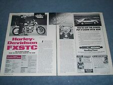 1986 Harley-Davidson FXSTC Softail Vintage Motorcycle Info Article