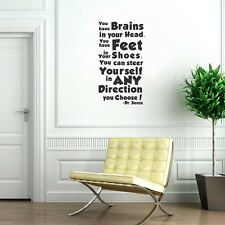 You Have Brains In Your Head Dr Seuss Wall Quote Decal Art House Decor Sticker