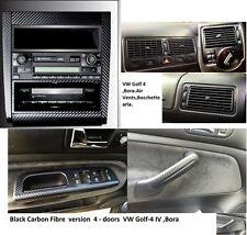 3-Set alu per Maniglie,Bocchette,Console di fibra in carbonio VW GOLF-4,BORA