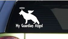 "My Guardian Angel GSD *I163* 6"" Sticker decal german shepherd schutzhund"