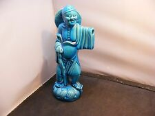 Antique Chinese turquoise porcelain Pottery fine chinese Figurine Statue signed