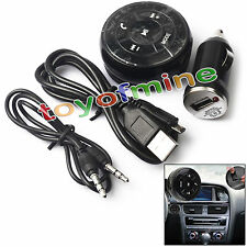 Wireless Car Kit Bluetooth estéreo 3,5mm AUX Audio Música receptor de radio FM