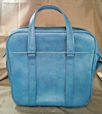 Samsonite Silhouette Carry On Bag Luggage Handi-Tote Overnight Light Blue VTG