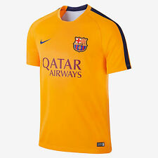 Nike FC Barcelona Pre-Match Training Jersey Top 2015/16 New Gold 686641-740 M