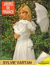 JOURS DE FRANCE N°1018 sylvie vartan romy schneider michel fugain marié prangins