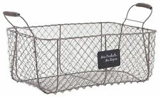 Wire Storage Basket Crate Vintage French Farmhouse Vegetable Storage Hamper