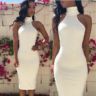 UK WOMENS SEXY ASYMMETRIC BODYCON PARTY DRESS LADIES ROMPER PLAYSUIT SIZE 6 - 14