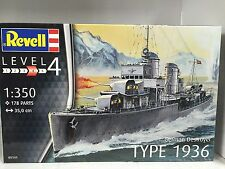 +++ Revell German Destroyer Type 1936 1:350 05141