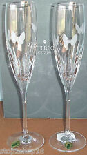 Waterford Crystal BUTTERFLY Champagne Toasting Flutes SET OF 2  #151896 New