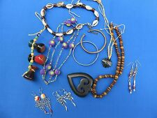 LOT A JEWELRY BRACELETS EARRINGS NECKLACES CLOSEOUT AFRICAN ASIAN SOUTH AMERICAN