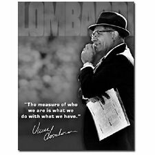 Green Bay Packers Vince Lombardi Measure Of A Man Retro Wall Decor Metal Sign 01