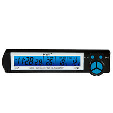 VST-7043V Car LCD Monitor Digital Thermometer, Clock, Out/In Temp, Voltage Meter
