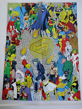 BATMAN SUPERMAN FUNERAL FOR A FRIEND ZERO HOUR POSTER LOT 1993 DC COMICS 2-SIDED