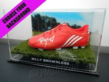 Signed BILLY BROWNLESS Football Boot PROOF COA Geelong Cats 2016 Guernsey
