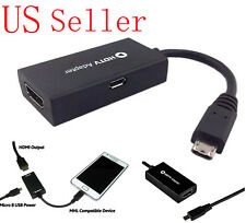 New Black Micro USB to HDMI Adapter Converter Cable For Smart Phones Tablets