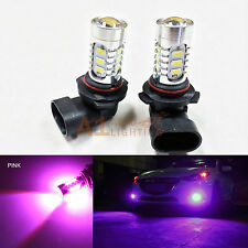 2x Pink 9006 HB4 15w High Power Bright LED Bulbs 5730 SMD Fog light Replacement