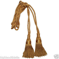 Highlandthistle alta qualità Cornamusa Corda Di Seta Taglia Standard colore oro