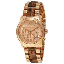 Michael Kors Cooper  Tortoise-shell Acetate Gold Dial Quartz Ladies Watch MK6155