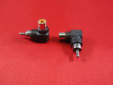 2PCS RCA Male to Female Right Angle Adapter 90 Degree, Black.