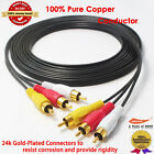 Stereo / VCR RCA Cable, 2 RCA Audio with RCA RG59 Video Gold Plated, 12 feet