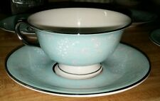 Castleton China Corsage Pattern replacement cups Turquoise Floral Band 1950