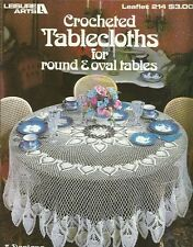 Crocheted Tablecloths for Round & Oval Tables Instruction Patterns Gail Diven