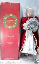"Gorgeous Blond and Blue Eyed Light Up Merry Christmas Doll, 24"" Tall Red & White"
