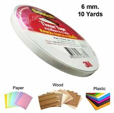 6 mm DOUBLE SIDED TAPE 10 Yards Stick Glue Repair Paper Wood Plastic Poster Wall