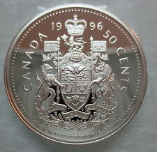 1996 CANADA 50 CENTS PROOF SILVER HALF DOLLAR COIN - A