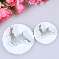 2pcs/sets Xmas Deer Sugarcraft Cutters Perfect For Fondant Cake Deocrating