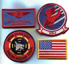 PETE MAVERICK MITCHELL TOP GUN MOVIE LOGO US NAVY Squadron Costume Patch Set