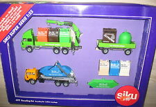 SIKU 6319 - Recyclingset - Iveco Recycling-LKW-Zug, Mercedes SK - NEU - 1:55