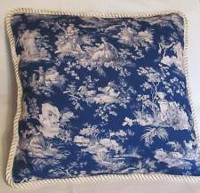 Provence French Country Cottage English Reverse Toile Garden Pillow Paris