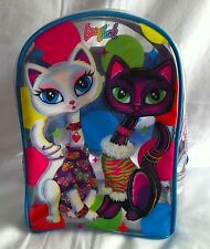 LISA FRANK Backpack Roxie and Rollie Siamese Cats Small Clear Plastic Vtg 90's