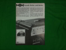 HH IC100L advert 1979 power amplifier