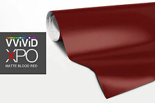VViViD Blood red Matte finish car vinyl wrap 1ft x5ft decal film 3mil XPO series