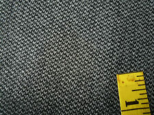 "Worsted Wool Suiting Fabric Gray Black Woven 63""W x 1 yard"