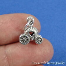 .925 Sterling Silver Cinderella PUMPKIN CARRIAGE CHARM Princess PENDANT