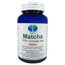 Matcha, 100% Grüntee aus Japan, 120 Pulver-Kapseln a 380mg, #25460