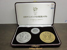 1998 Nagano Winter Olympic Goddess Silver Bronze Medal with CASE
