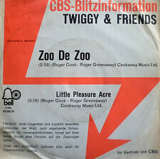 "7"" 1971 CBS BLITZ RARE VG++ TWIGGY & FRIENDS Zoo De Zoo"