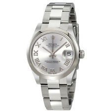 Rolex Oyster Perpetual Datejust Rhodium Dial Automatic Ladies Watch 178240RRO