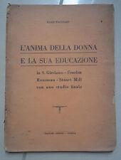 L'ANIMA DELLA DONNA E LA SUA EDUCAZIONE PAGGIARO 1935