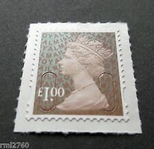 NEW 2016  £1.00 M16L Code Machin SINGLE MINT STAMP from Counter Sheet