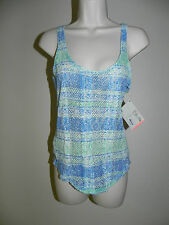 ROXY SHINE YOUR LIGHT BLUE GREEN MULTI-COLOR TANK TOP SIZE SMALL NWT $44.50