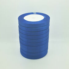 "New 25 Yards 3/8"" 10mm Blue Bulk Satin Ribbon Craft sewing Supplies crafts D-1"