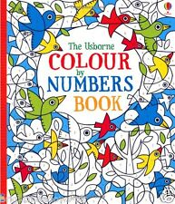 Colour by Numbers Adult Colouring Book Calm Relaxing Art Therapy Creative