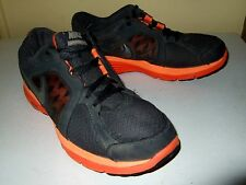 NIKE DUAL FUSION RUN RUNNING GRAY ORANGE SHOES MENS 6.5 SNEAKERS