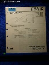 Sony Service Manual IFM V1K Cordless Microphone System (#3105)