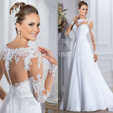 New White/ivory Wedding Dress Bridal Gown Custom Size: 6 8 10 12 14 16 18 20++++